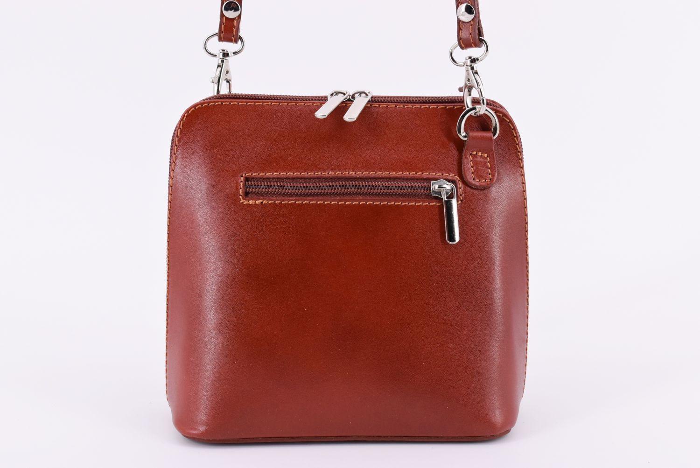 Dámská malá kožená kabelka crossbody Arteddy - krémová 36947