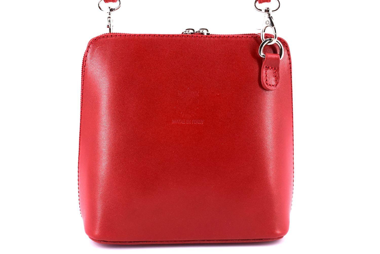 Dámská malá kožená kabelka crossbody Arteddy - červená 36947
