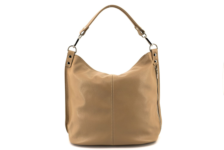 Dámská kožená kabelka Arteddy - béžová 36921