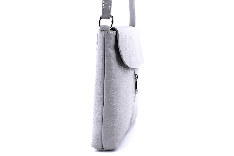 Dámská kožená crossbody kabelka s klopnou Arteddy - červená 36926