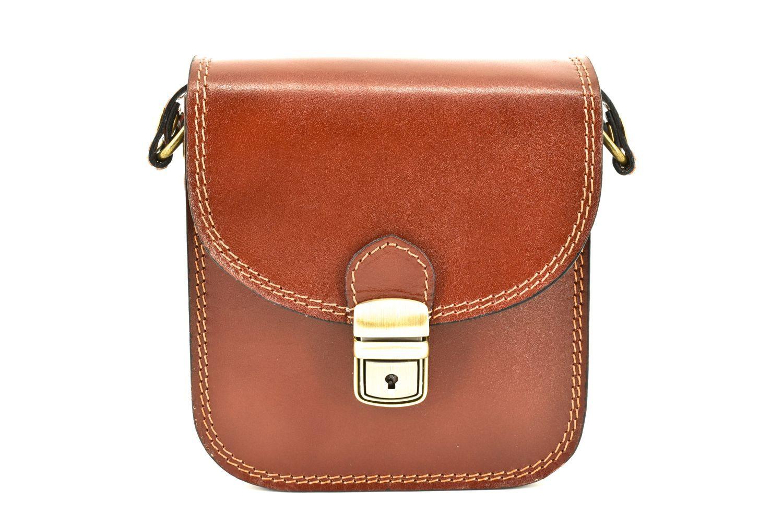Dámská kožená kabelka crossbody Arteddy - hnědá 36939