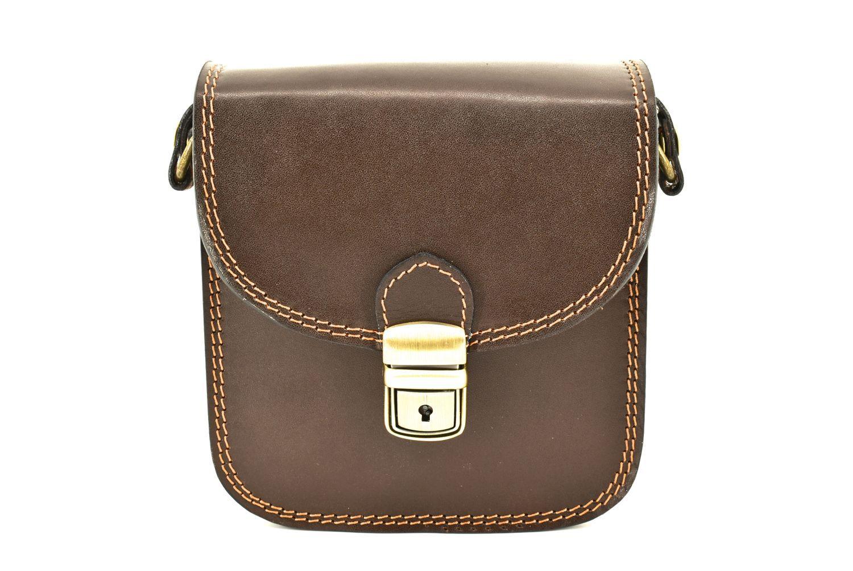 Dámská kožená kabelka crossbody Arteddy - tmavě hnědá 36939