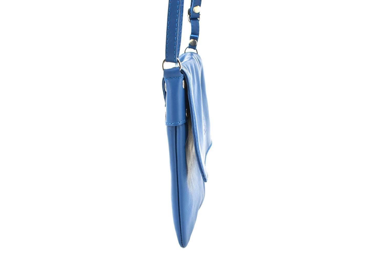 Dámská kožená crossbody kabelka s klopnou Arteddy - béžová 36943
