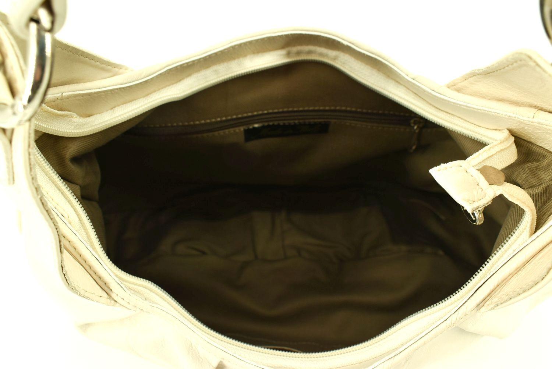 Dámská kožená kabelka Arteddy - krémová 90752