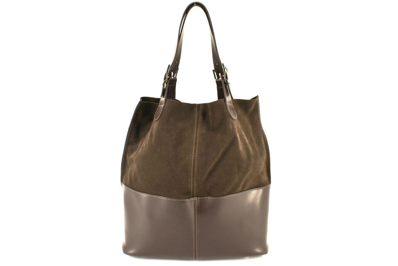 Dámská kožená kabelka Arteddy - tmavě hnědá 28896
