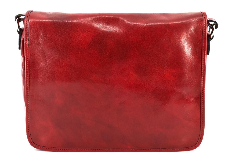 Kožená taška s klopnou Arteddy - červená