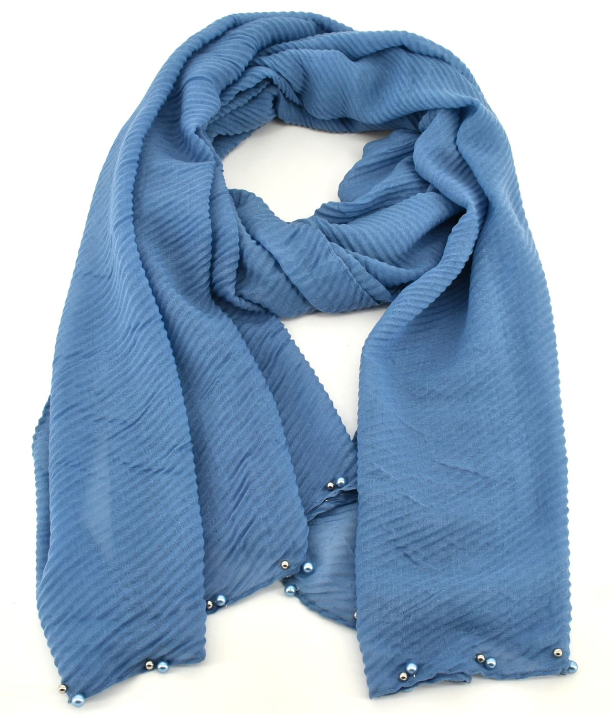Dámský šátek s perličkami Arteddy - modrá