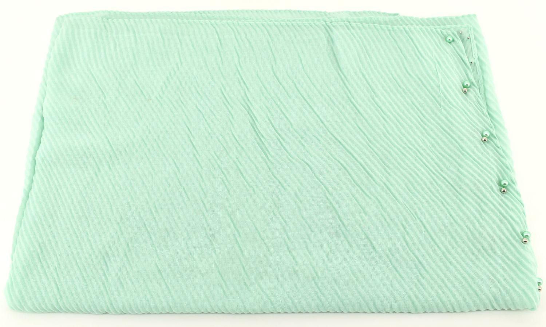 Dámský šátek s perličkami Arteddy - zelená