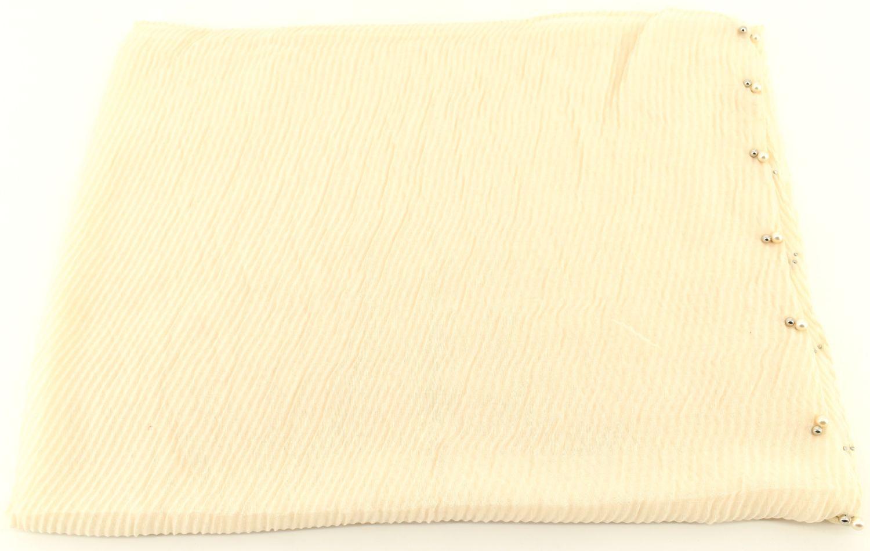 Dámský šátek s perličkami Arteddy - krémová