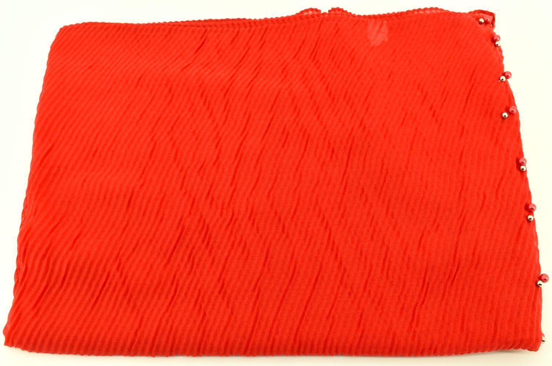 Dámský šátek s perličkami Arteddy - červená