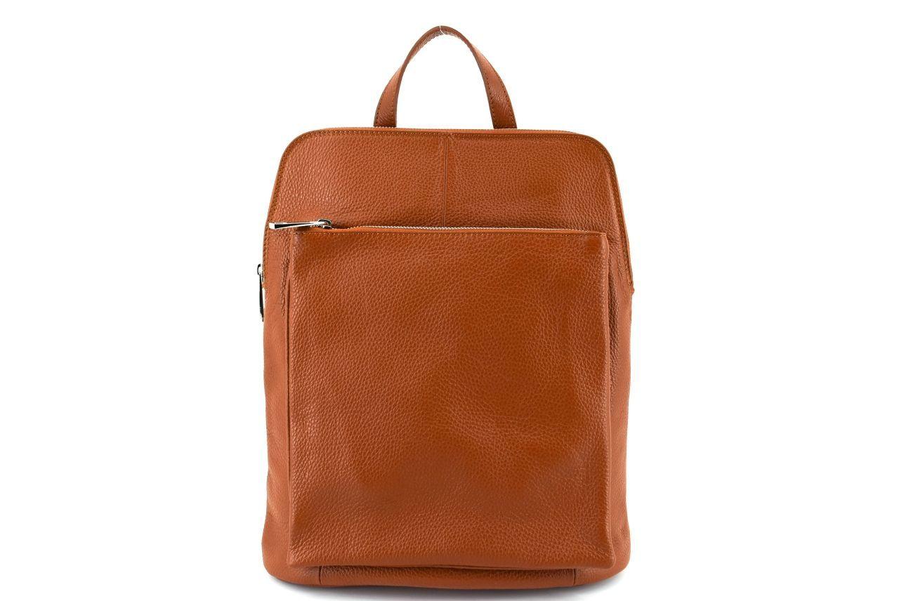 Dámský kožený batoh a kabelka v jednom /Arteddy - rezavá 36933