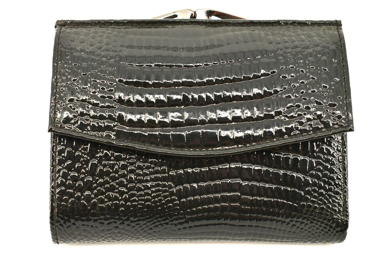 Dámská lakovaná kožená peněženka Arteddy - černá 11363
