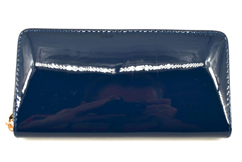 Dámská / dívčí peněženka pouzdrového typu lakovaná - tmavě modrá 36407