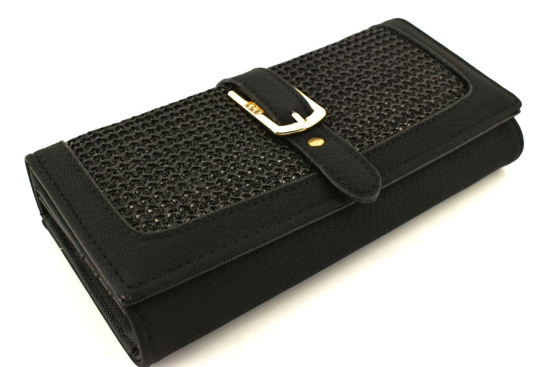 Dámská / dívčí peněženka z ekokůže - černá 32106