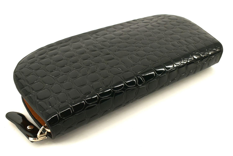 Dámská / dívčí peněženka pouzdrového typu lakovaná - černá 27508