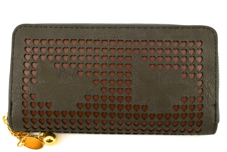 Dámská / dívčí peněženka pouzdrového typu - tmavě šedá 26572