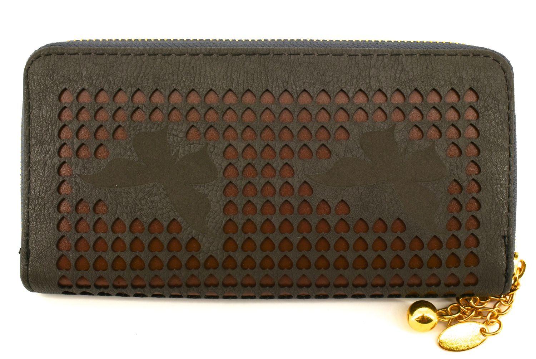 Dámská / dívčí peněženka  pouzdrového typu - tmavě šedá