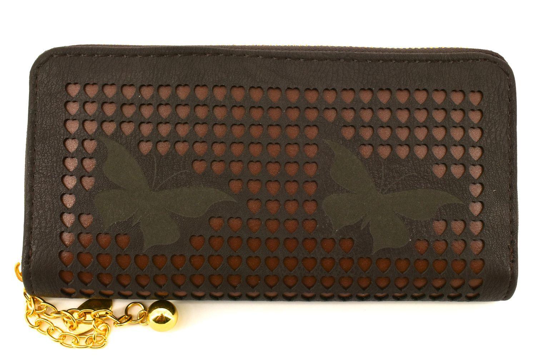 Dámská / dívčí peněženka pouzdrového typu - tmavě hnědá 26572