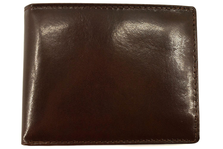 Pánská kožená peněženka Arteddy -tmavě hnědá 30250