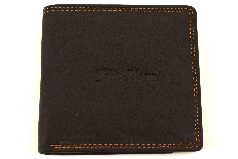 Pánská kožená peněženka Fabio Massari -tmavě hnědá 32128