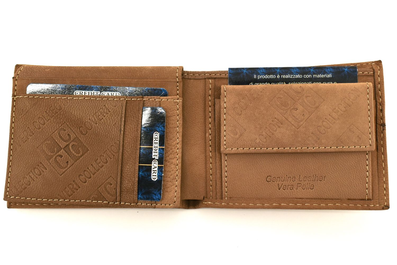 Pánská kožená peněženka Coveri Collection - béžová 31747