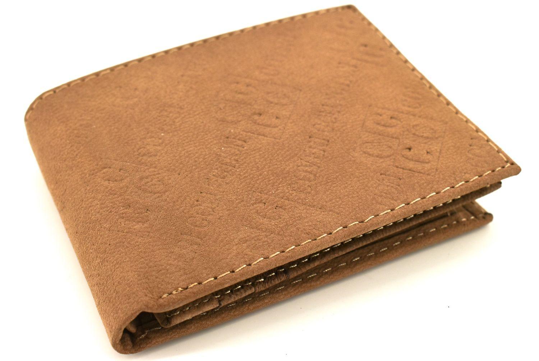 Pánská kožená peněženka Coveri Collection - béžová