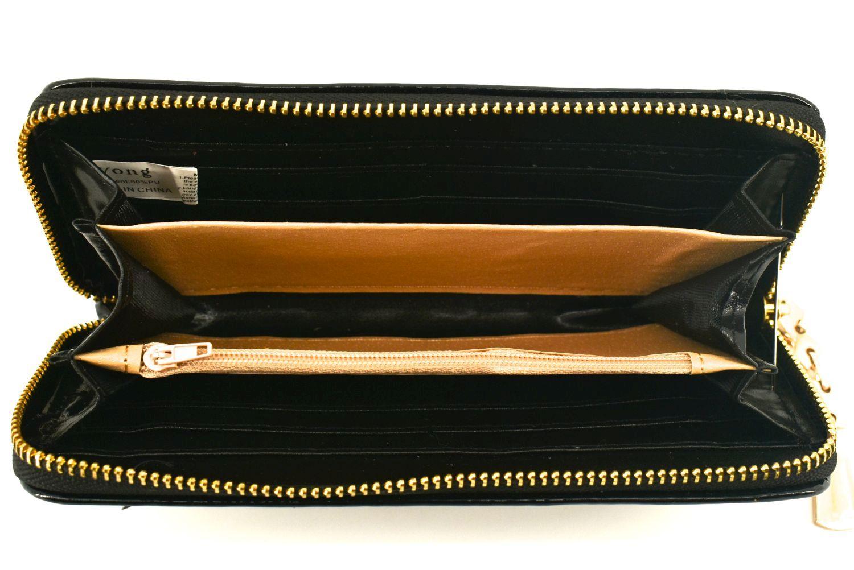Dámská / dívčí peněženka pouzdrového typu lakovaná - černá 26588