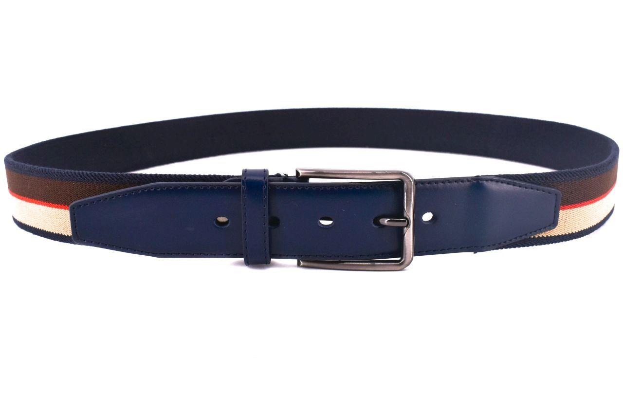 Pánský elastický opasek - tmavě modrá 125 36652