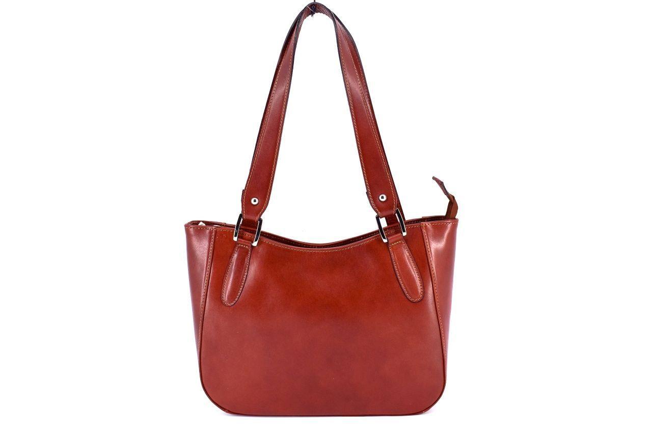 Dámská kožená kabelka Arteddy - hnědá 29582