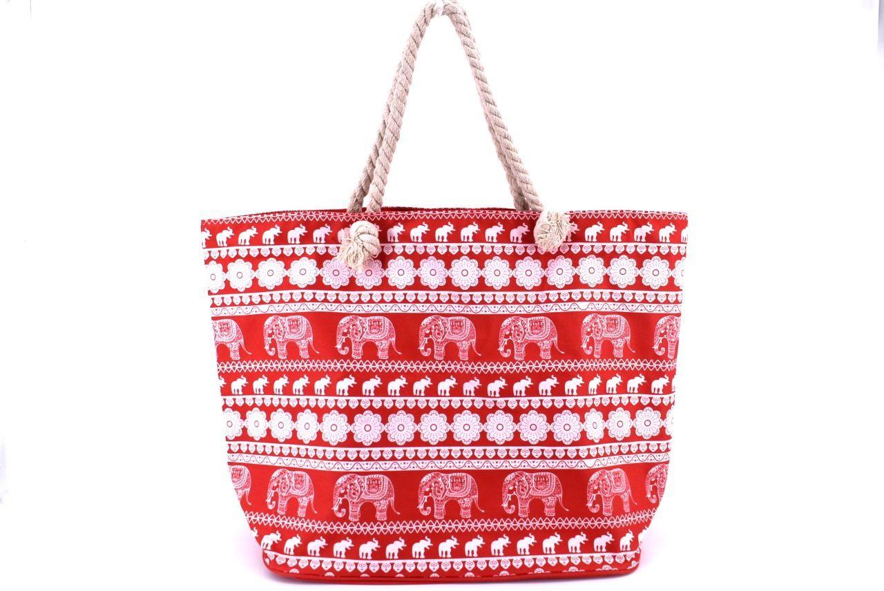 Plážová taška - červená 37090