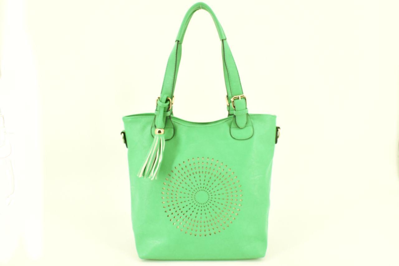 Dámská kabelka z ekokůže - zelená 27000