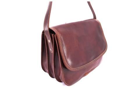 Dámská velká kožená kabelka lovecká Arteddy