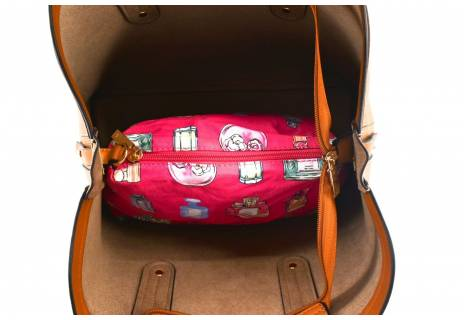 Dámská kabelka - béžová/hnědá