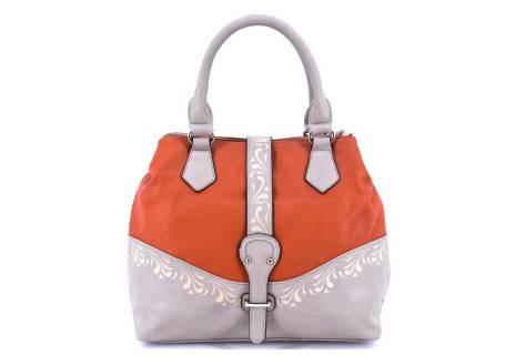 Dámská kabelka - krémová/oranžová