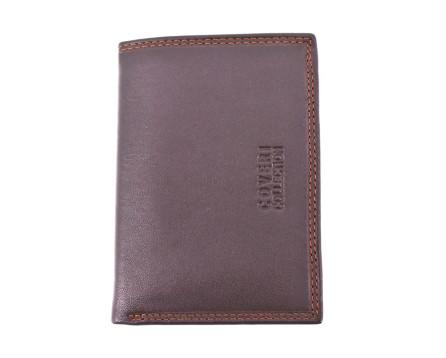 Pánská kožená peněženka Coveri Collection - tmavě hnědá