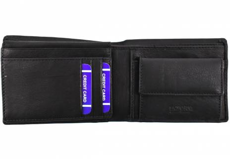 Pánská kožená peněženka Emporio - černá