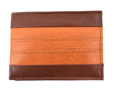Pánská malá kožená peněženka Arteddy - hnědá/camel