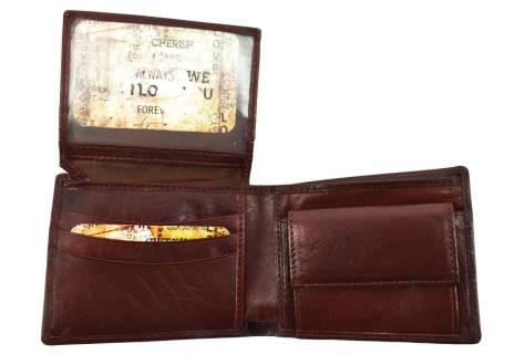 Pánská kožená peněženka Arteddy - tmavě hnědá