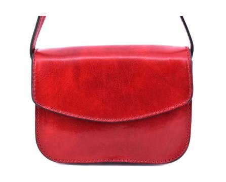 Dámská malá kožená kabelka crossbody (lovecká)  Arteddy