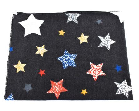 Dámská   dívčí zimní šála se vzorem hvězdičky Arteddy d45bda205b