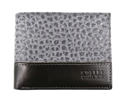 Pánská kožená peněženka na šířku Coveri - šedá
