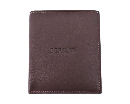 Pánská kožená peněženka Bernini - tmavě hnědá