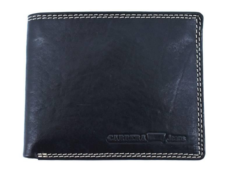 Pánská kožená peněženka na šířku Carrera Jeans - černá  eabb8addd0