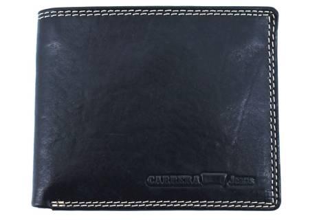 Pánská kožená peněženka  na šířku Carrera Jeans - černá