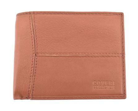 Pánská kožená peněženka na šířku Coveri - hnědá