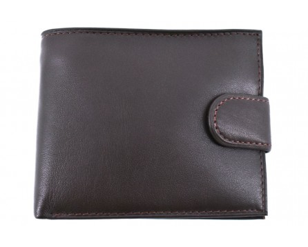 Pánská kožená peněženka  na šířku se zápinkou Arteddy