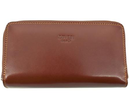 Dámská kožená peněženka pouzdrového typu Coveri World
