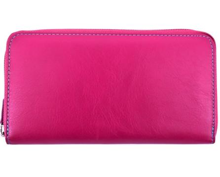 Dámská kožená peněženka pouzdrového typu Arteddy - fuxia