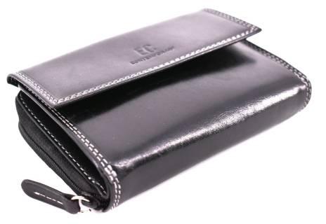 Dámská kožená peněženka EC - černá