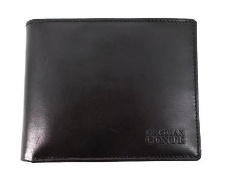 Pánská kožená peněženka Cristian Conte - černá